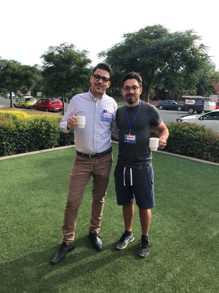 Io e il mio capo Ignazio Fortunato ad un convegno di marketing a Wagga